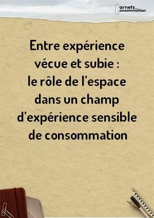 Entre expérience vécue et subie : le rôle de l'espace dans un champ d'expérience sensible de consommation